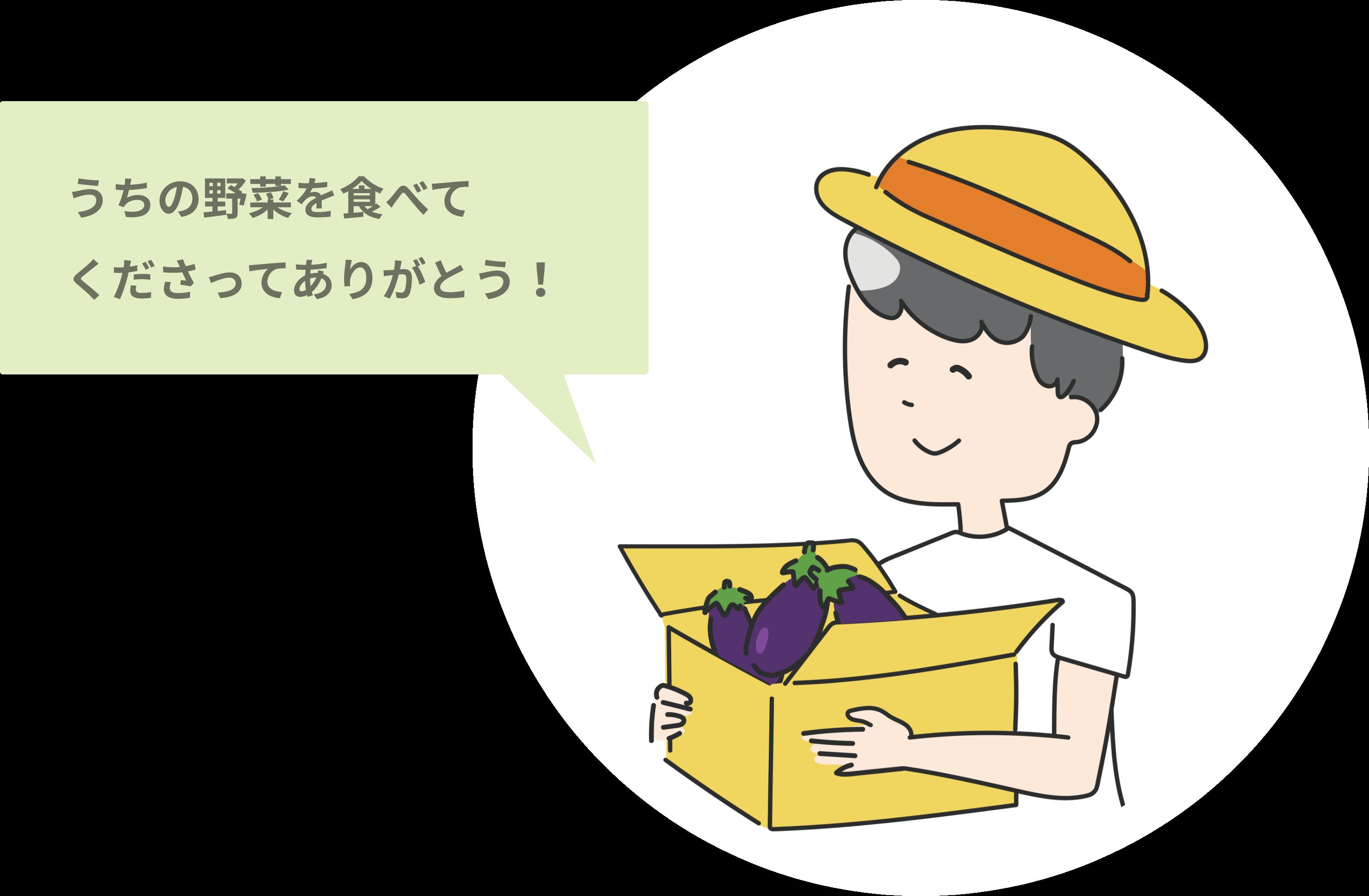 うちの野菜を食べてくださってありがとう!